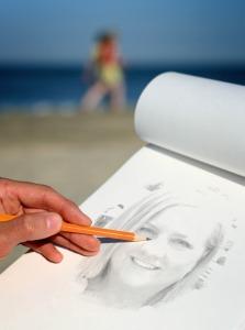 PhotoFunia-Drawing_near_the_Sea